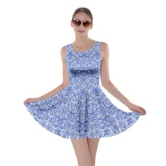 Skater Dress Blue Floral Print by olgart