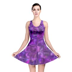 Purple Squares Reversible Skater Dress by KirstenStar