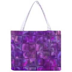 Purple Squares Tiny Tote Bag by KirstenStar