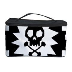 Goth Punk Skull Checkers Cosmetic Storage Case by ArtistRoseanneJones