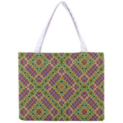 Multicolor Geometric Ethnic Seamless Pattern Tiny Tote Bag by dflcprints