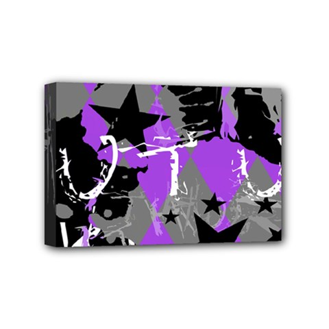 Purple Scene Kid Mini Canvas 6  X 4  (framed) by ArtistRoseanneJones
