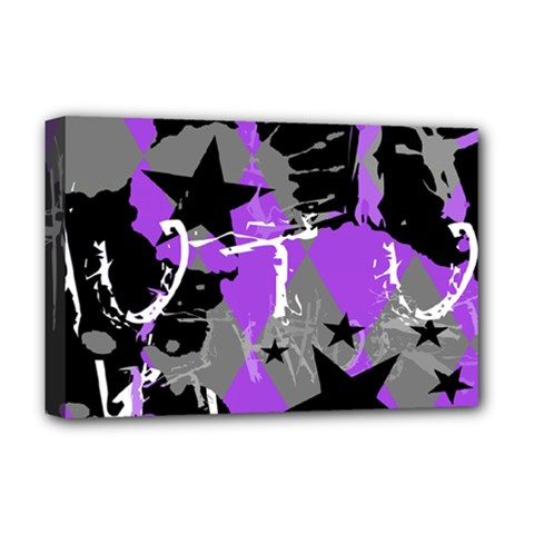 Purple Scene Kid Deluxe Canvas 18  X 12  (framed) by ArtistRoseanneJones
