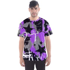 Purple Scene Kid Men s Sport Mesh Tee by ArtistRoseanneJones