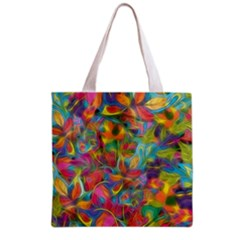 Colorful Autumn Grocery Tote Bag by KirstenStar