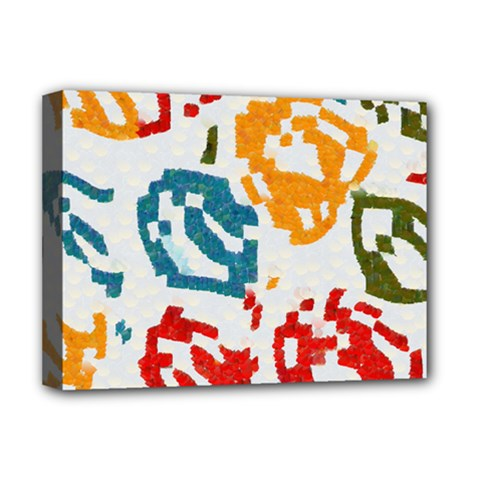 Colorful Paint Stokes Deluxe Canvas 16  X 12  (stretched)  by LalyLauraFLM