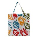 Colorful paint stokes Grocery Tote Bag View1