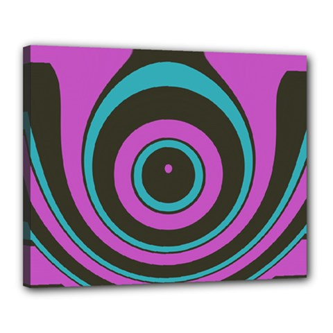 Distorted Concentric Circles Canvas 20  X 16  (stretched) by LalyLauraFLM