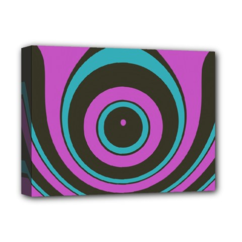 Distorted Concentric Circles Deluxe Canvas 16  X 12  (stretched)  by LalyLauraFLM