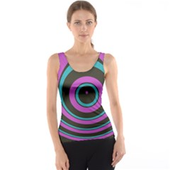 Distorted Concentric Circles Tank Top