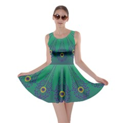 Peacock Green Skater Dress  by olgart