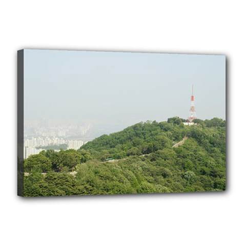 Seoul Canvas 18  X 12  (framed) by anstey