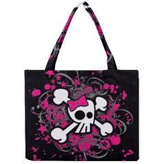Girly Skull And Crossbones Tiny Tote Bag
