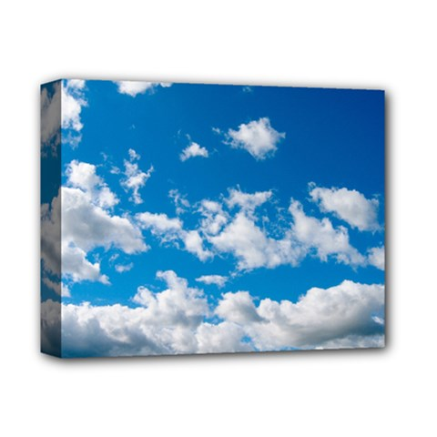 Bright Blue Sky Deluxe Canvas 14  X 11  (framed) by ansteybeta