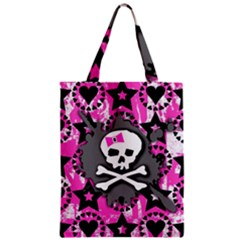 Pink Bow Skull Classic Tote Bag by ArtistRoseanneJones