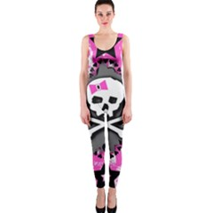 Pink Bow Skull Onepiece Catsuit
