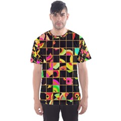 Pieces in squares Men s Sport Mesh Tee by LalyLauraFLM