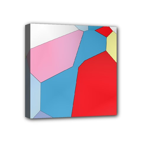 Colorful Pastel Shapes Mini Canvas 4  X 4  (stretched) by LalyLauraFLM