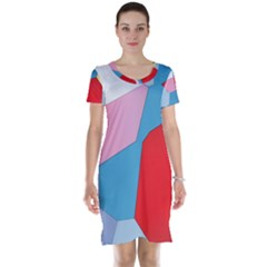 Colorful Pastel Shapes Short Sleeve Nightdress