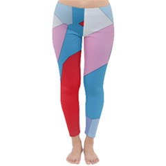 Colorful Pastel Shapes Winter Leggings