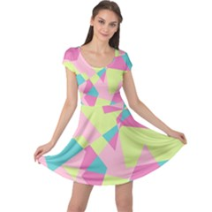Abstraction Cap Sleeve Dress by olgart