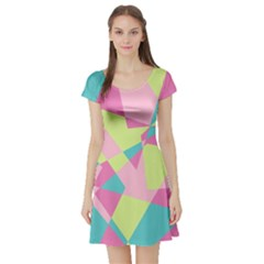 Abstraction Short Sleeve Skater Dress by olgart