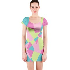 Abstraction Short Sleeve Bodycon Dress by olgart