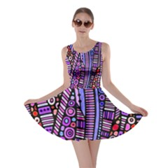 Stained Glass Tribal Pattern Skater Dress by KirstenStar