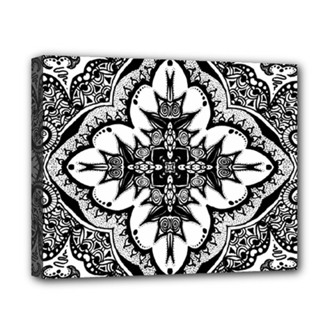 Doodle Cross  Canvas 10  X 8  (framed) by KirstenStar