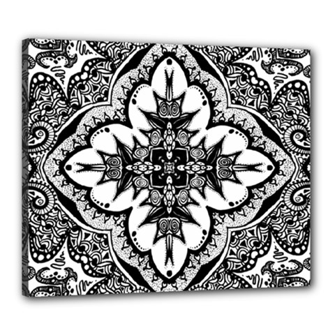Doodle Cross  Canvas 24  X 20  (framed) by KirstenStar