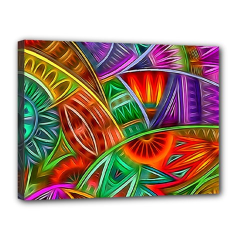 Happy Tribe Canvas 16  X 12  (framed) by KirstenStar