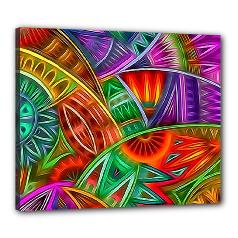 Happy Tribe Canvas 24  X 20  (framed) by KirstenStar