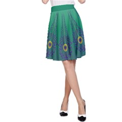 Peacock Green A-Line Skirt by olgart