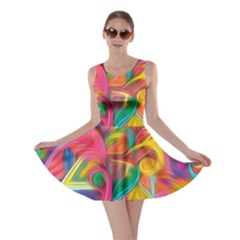 Colorful Floral Abstract Painting Skater Dress by KirstenStar