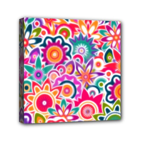 Eden s Garden Mini Canvas 6  x 6  (Framed) by KirstenStar