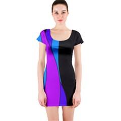 Blues Short Sleeve Bodycon Dress