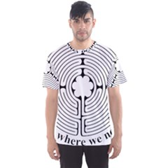 Finger Labyrinth Men s Sport Mesh Tee