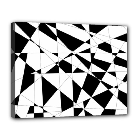 Shattered Life In Black & White Canvas 14  X 11  (framed) by StuffOrSomething