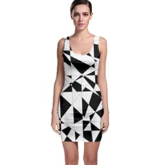 Shattered Life In Black & White Bodycon Dress by StuffOrSomething