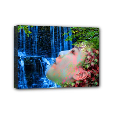 Fountain Of Youth Mini Canvas 7  X 5  (framed) by icarusismartdesigns