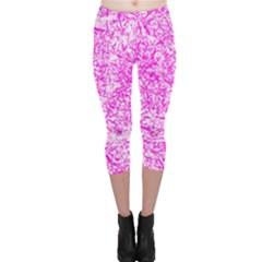 Officially Sexy Pink & White Capri Leggings by OfficiallySexy