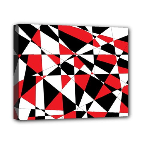 Shattered Life Tricolor Canvas 10  X 8  (framed) by StuffOrSomething