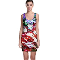 Officially Sexy Red Floating Hearts Collection Sleeveless Bodycon Dress by OfficiallySexy
