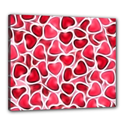 Candy Hearts Canvas 24  X 20  (framed) by KirstenStar