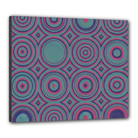 Concentric Circles Pattern Canvas 24  X 20  (stretched) by LalyLauraFLM