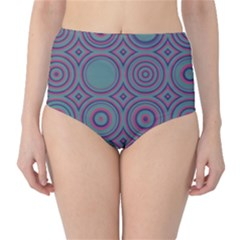 Concentric Circles Pattern High Waist Bikini Bottoms by LalyLauraFLM