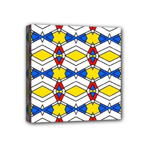 Colorful Rhombus Chains Mini Canvas 4  X 4  (stretched) by LalyLauraFLM