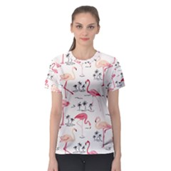 Flamingo Pattern Women s Sport Mesh Tees by Contest580383