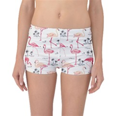 Flamingo Pattern Boyleg Bikini Bottoms