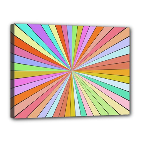 Colorful Beams Canvas 16  X 12  (stretched) by LalyLauraFLM